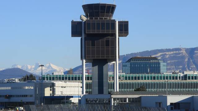 A view from Geneva International Airport