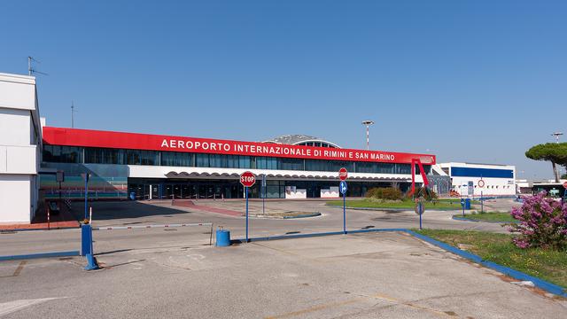 A view from Rimini Federico Fellini Airport