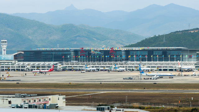 A view from Sanya Phoenix International Airport