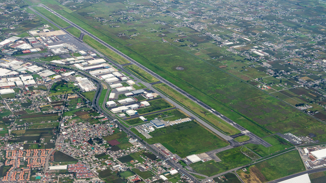 A view from Toluca International Airport