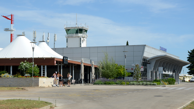 A view from Zadar Airport