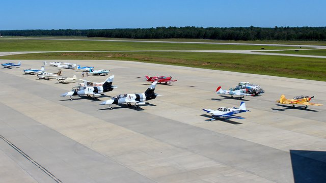 A view from Conroe Lone Star Executive Airport