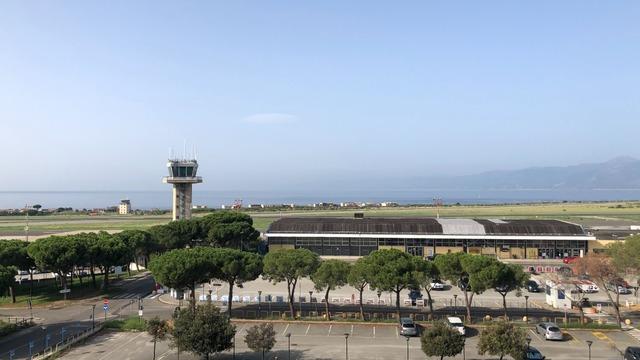 A view from Reggio Calabria Airport