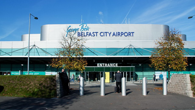 A view from Belfast City George Best  Airport
