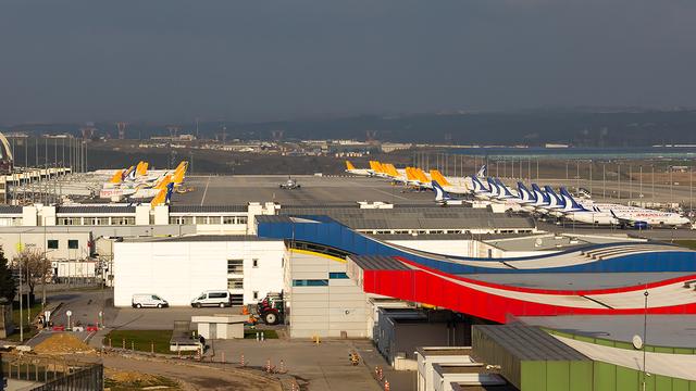A view from Istanbul Sabiha Gokcen International Airport