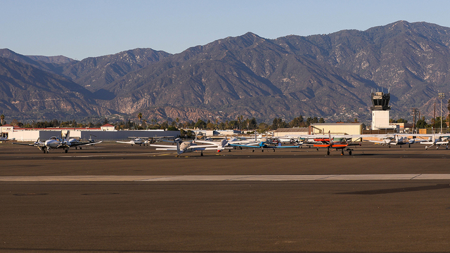 A view from El Monte San Gabriel Valley Airport