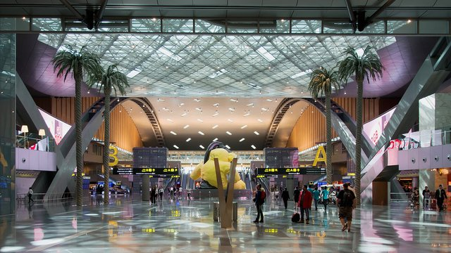 A view from Doha Hamad International Airport