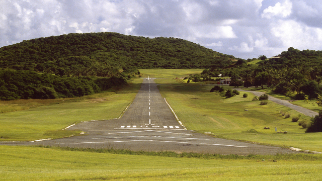 A view from Mustique Airport