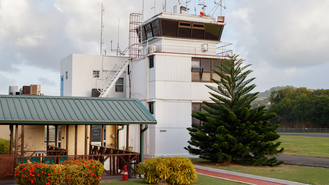 A view from Castries George F. L. Charles Airport
