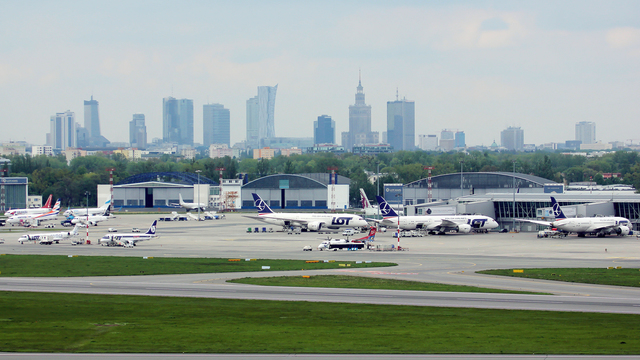 A view from Warsaw Chopin Airport