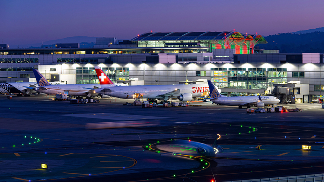 A view from San Francisco International Airport