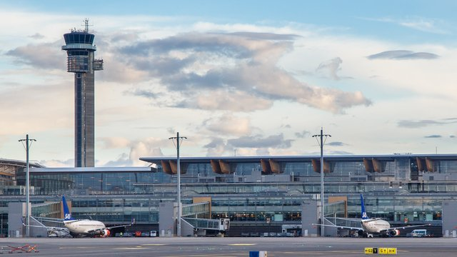 A view from Oslo Gardermoen Airport