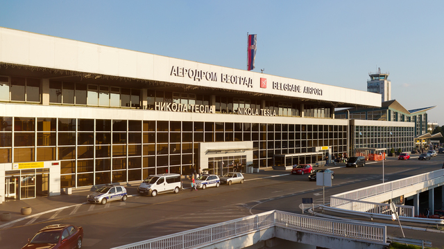 A view from Belgrade Nikola Tesla Airport
