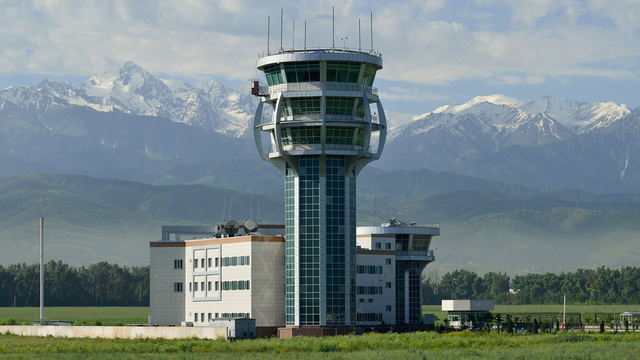 A view from Almaty International Airport