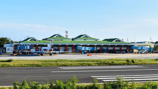 A view from San Andres International Airport