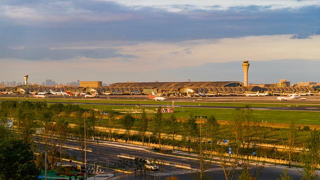 A view from Chengdu Shuangliu International Airport