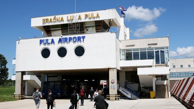 A view from Pula Airport