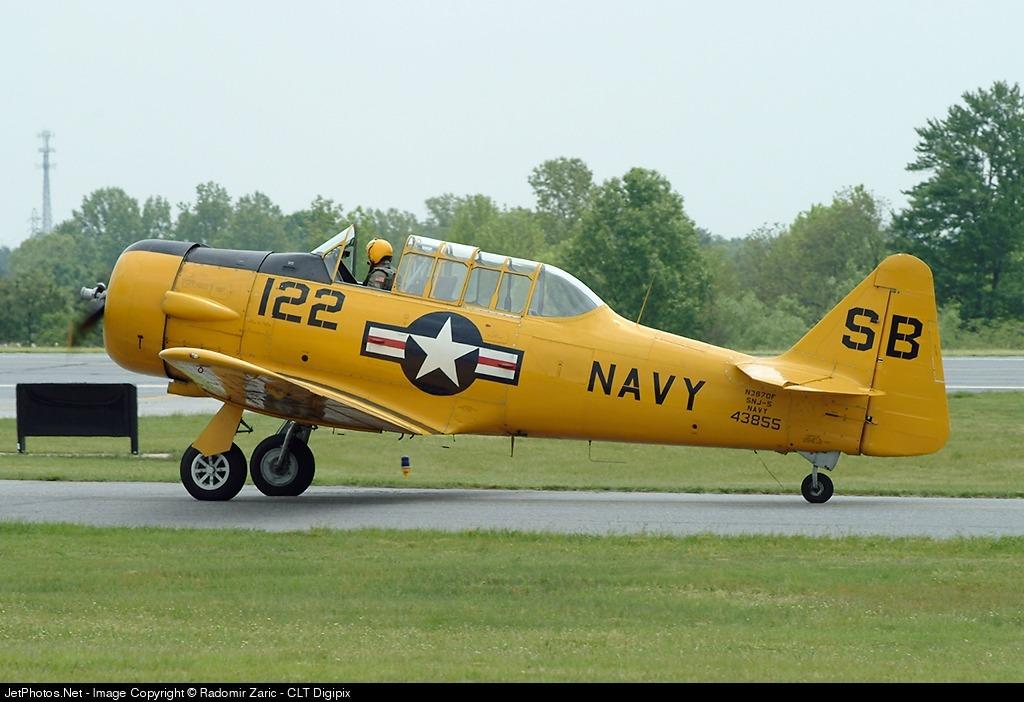 N3670F - North American SNJ-5 Texan - Private