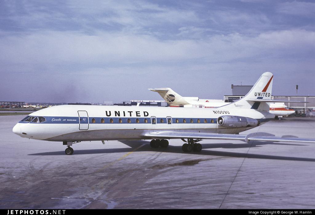 n1009u sud aviation se 210 caravelle vir united