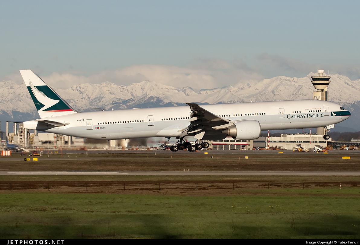 B-KPE - Boeing 777-367ER - Cathay Pacific Airways