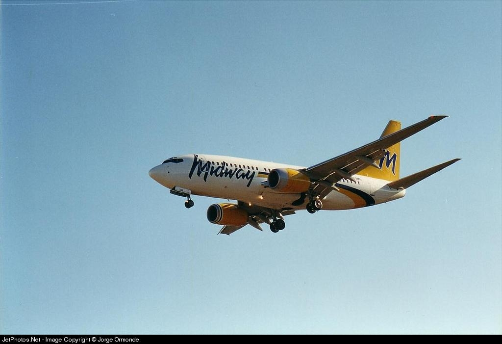 N363ML - Boeing 737-7BX - Midway Airlines