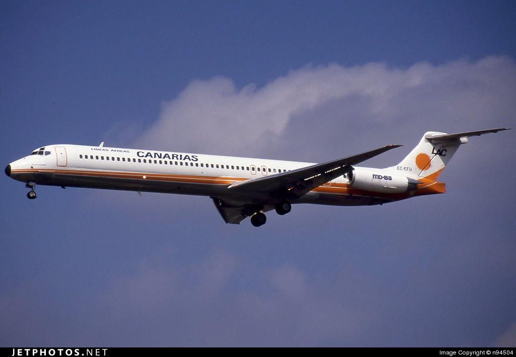 EC-EFU - McDonnell Douglas MD-83 - Líneas Aéreas Canarias (LAC)
