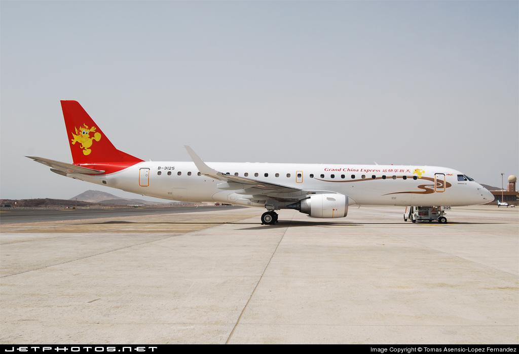 B-3125 - Embraer 190-100IGW - Grand China Express