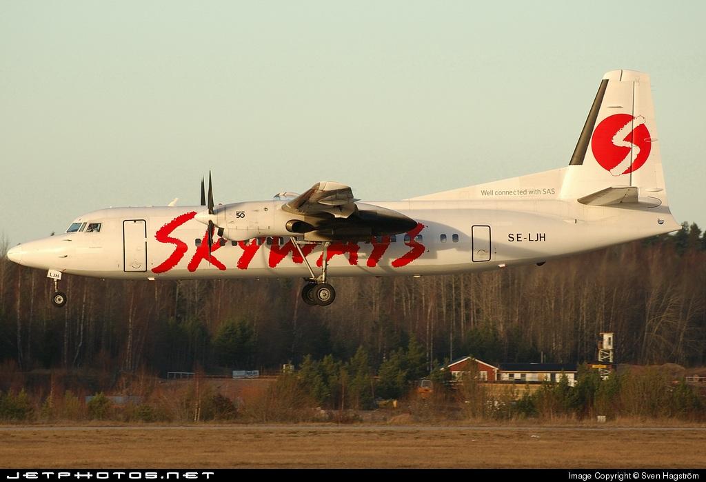SE-LJH - Fokker 50 - Skyways