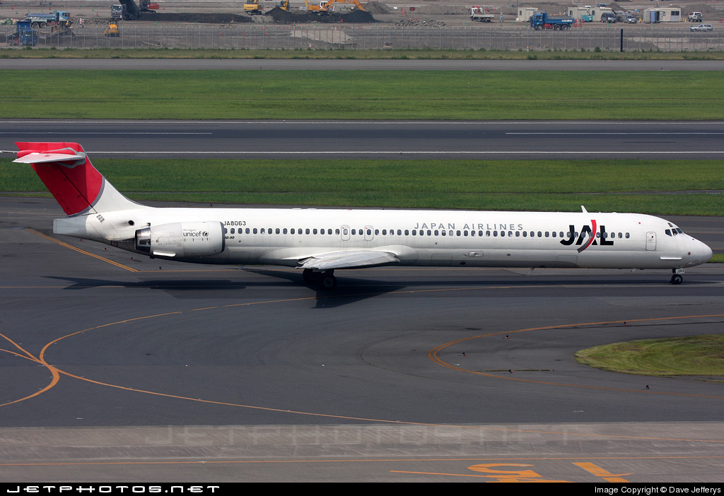 JA8063 - McDonnell Douglas MD-90-30 - Japan Airlines (JAL)