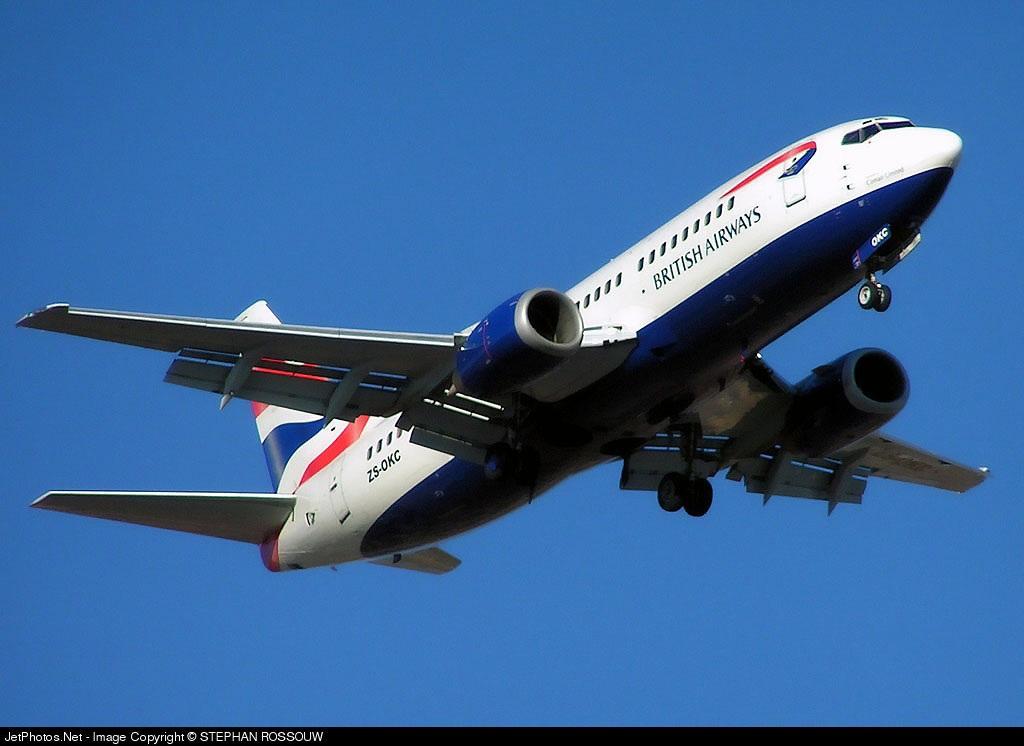 ZS-OKC - Boeing 737-376 - British Airways (Comair)