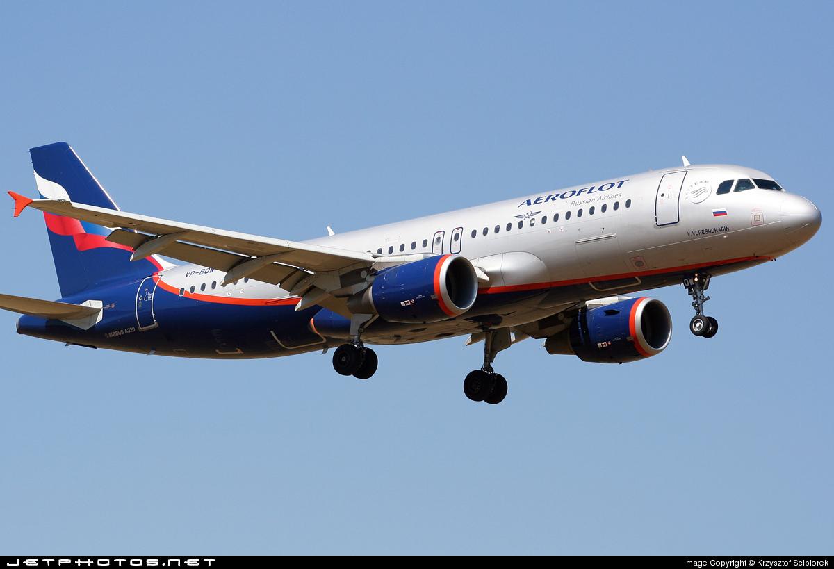 VP-BQW - Airbus A320-214 - Aeroflot