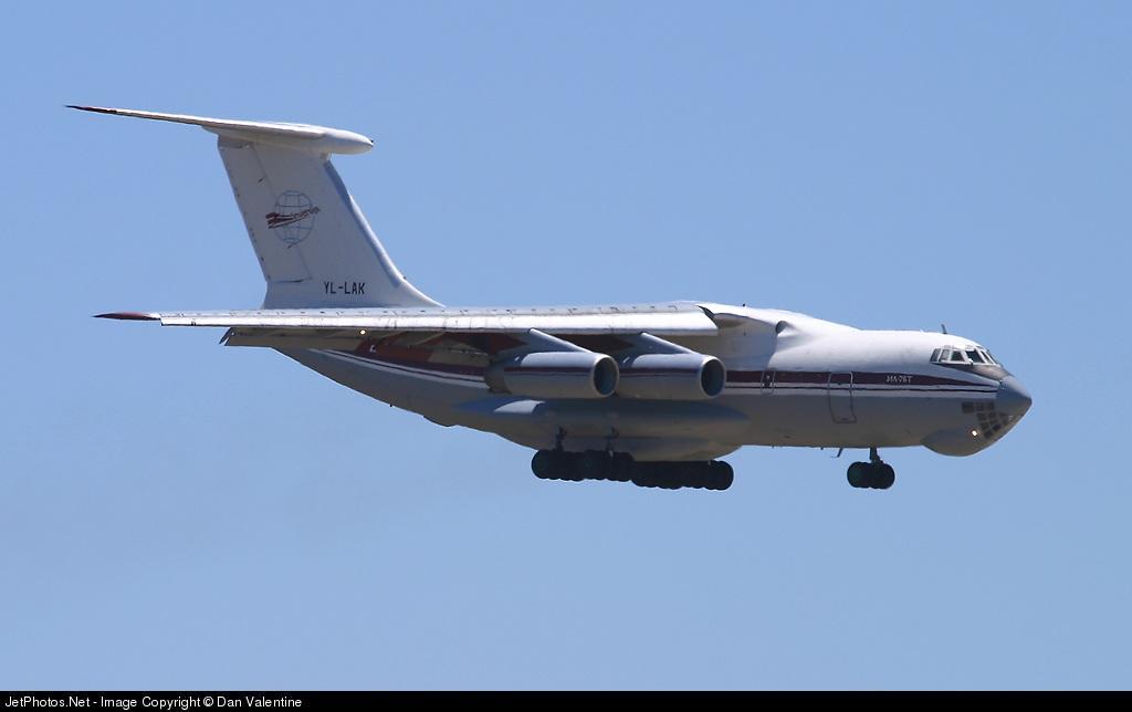 YL-LAK - Ilyushin IL-76T - Inversija