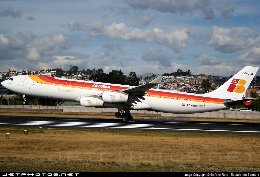 EC-GUQ - Airbus A340-313X - Iberia