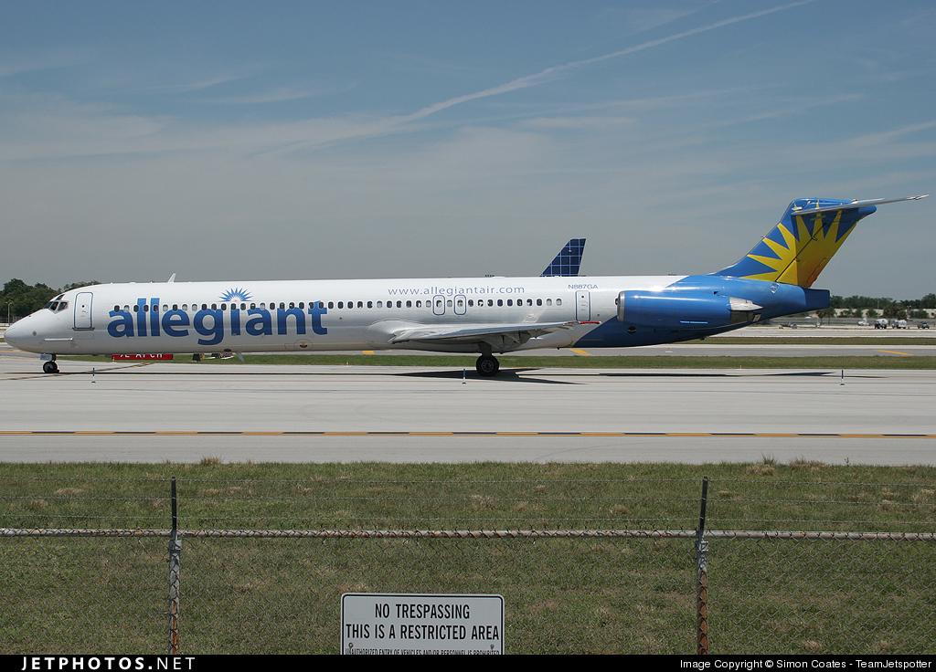 N887GA - McDonnell Douglas MD-82 - Allegiant Air