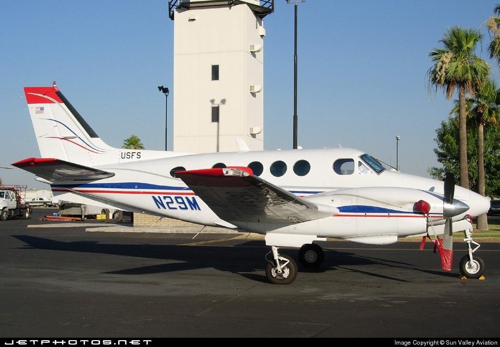 N29M - Beechcraft E90 King Air - United States - Forest Service