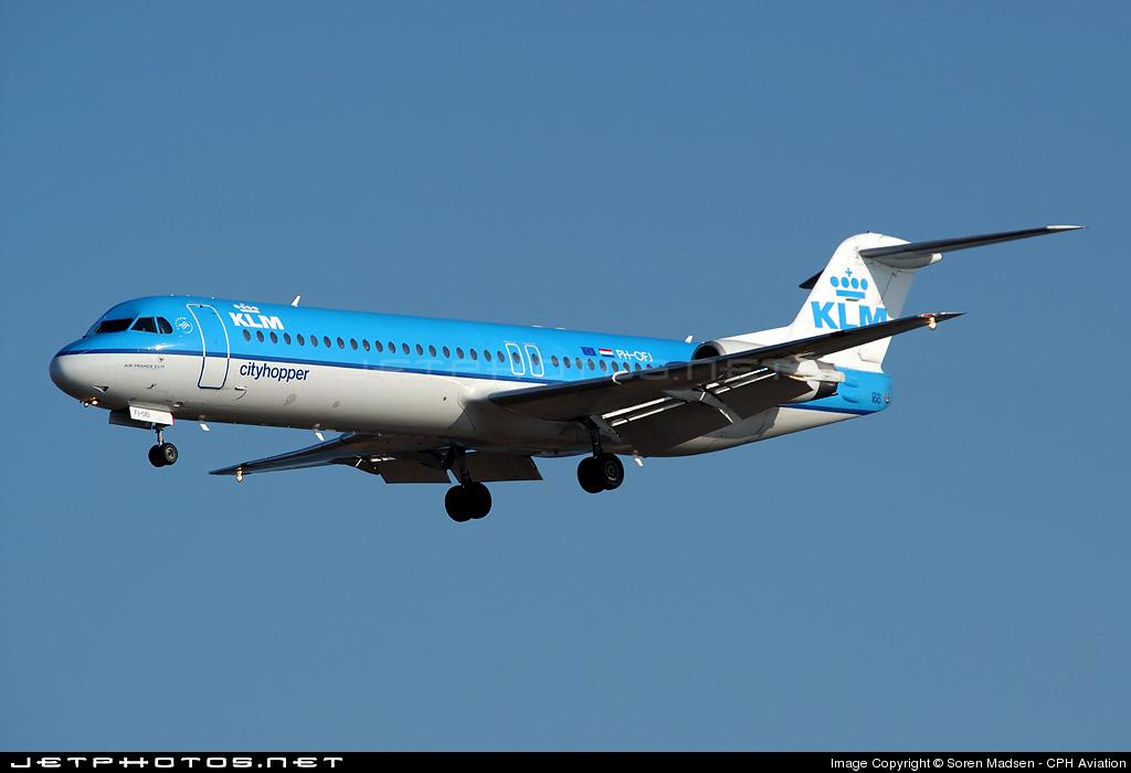PH-OFJ - Fokker 100 - KLM Cityhopper