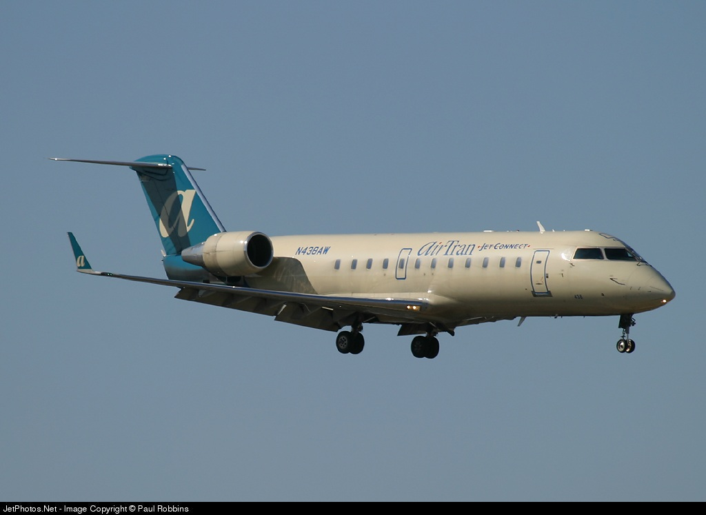 N438AW - Bombardier CRJ-200LR - airTran Jet Connect (Air Wisconsin)