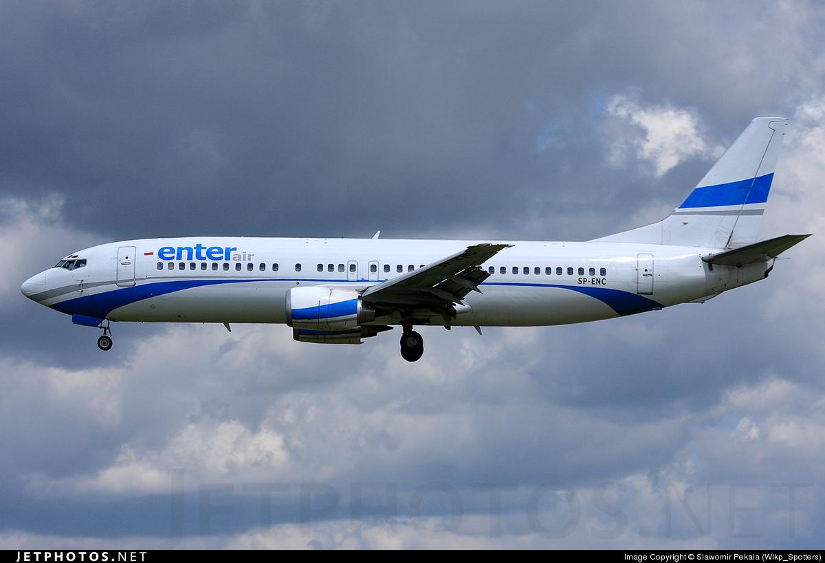 SP-ENC - Boeing 737-4Q8 - Enter Air