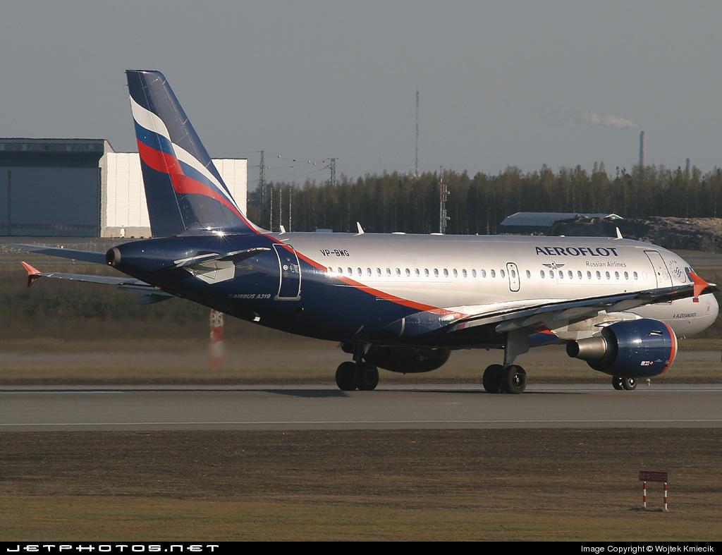 VP-BWG - Airbus A319-111 - Aeroflot