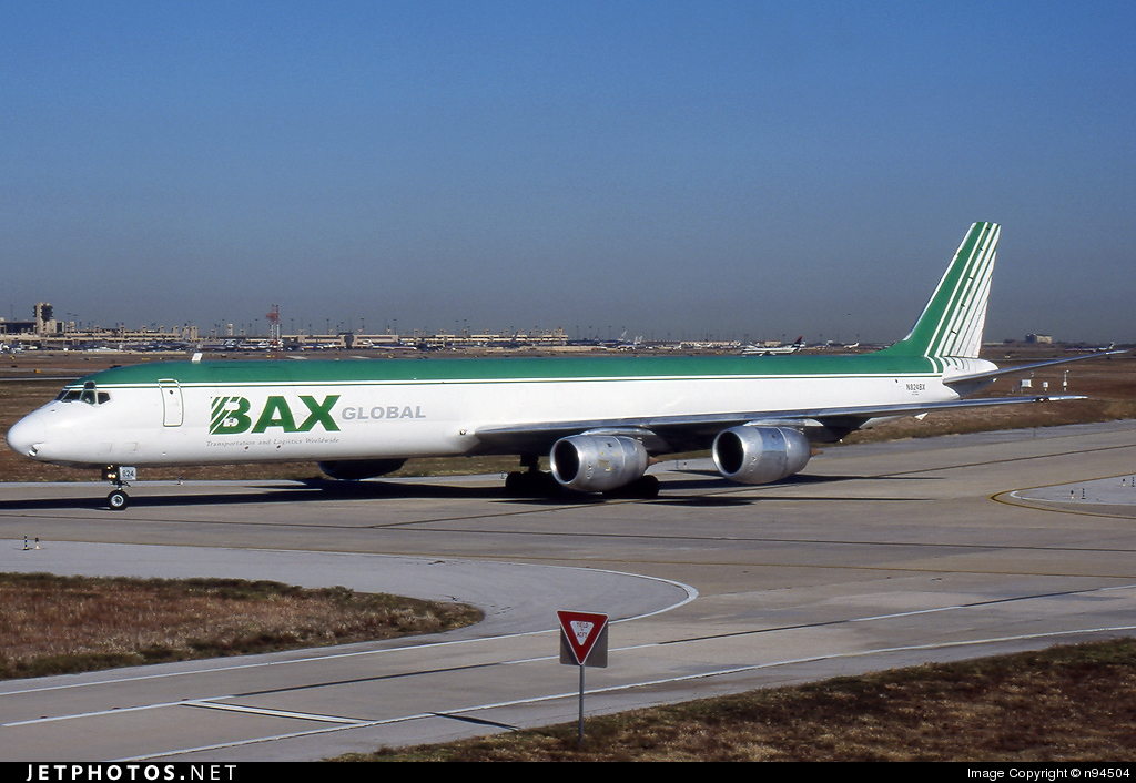 N824BX - Douglas DC-8-71(F) - Burlington Air Express (BAX)