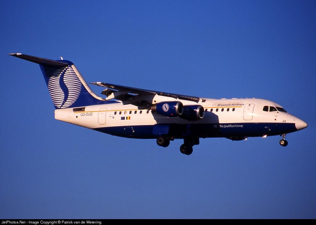 OO-DJQ - British Aerospace Avro RJ85 - SN Brussels Airlines