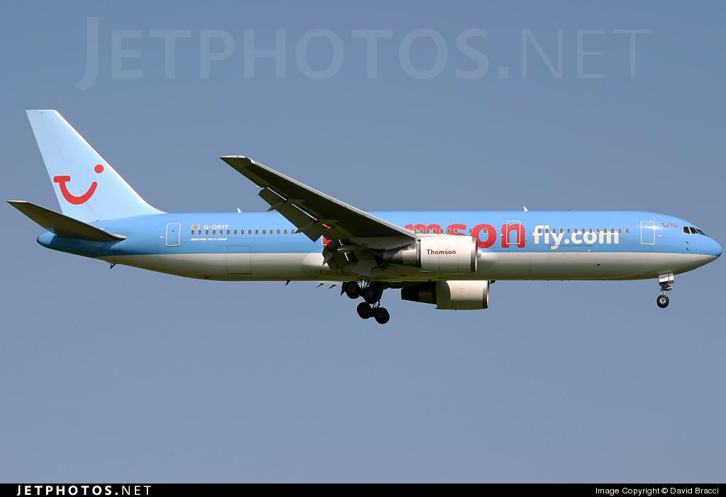 G-OBYF - Boeing 767-304(ER) - Thomsonfly