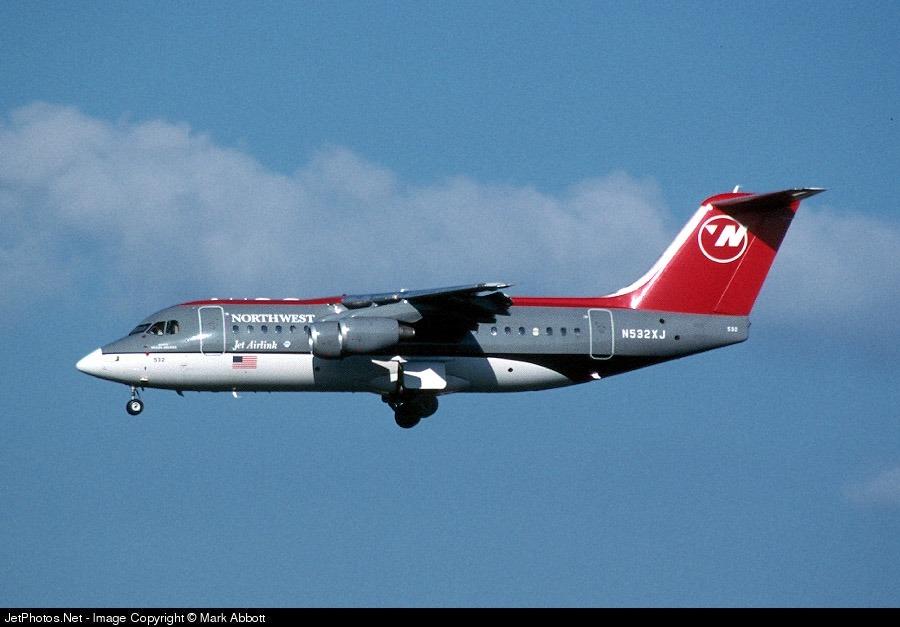 N532XJ - British Aerospace BAe 146-300 - Northwest Airlink (Mesaba Airlines)