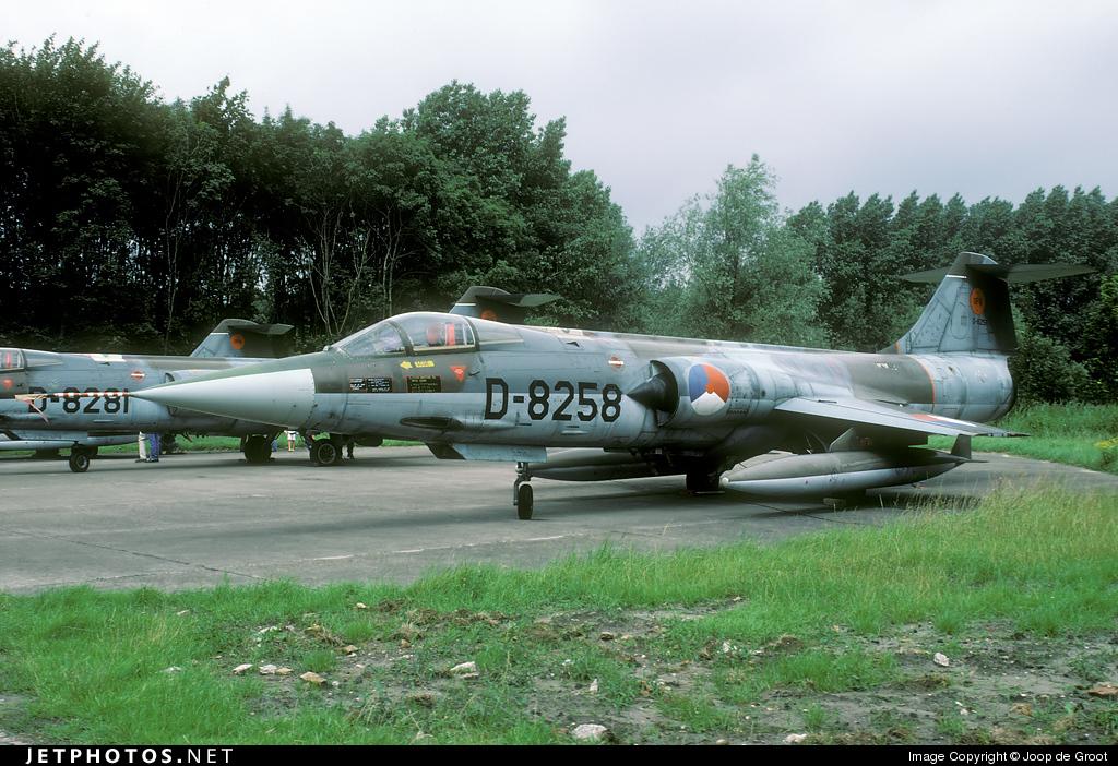 D-8258 - Lockheed F-104G Starfighter - Netherlands - Royal Air Force