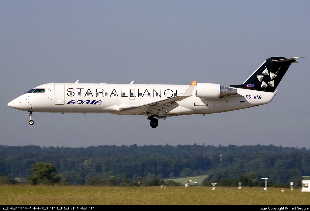 S5-AAG - Bombardier CRJ-200LR - Adria Airways