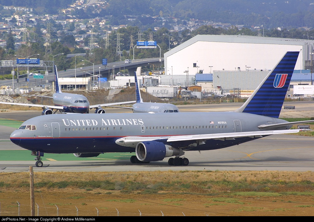 N619UA - Boeing 767-222 - United Airlines