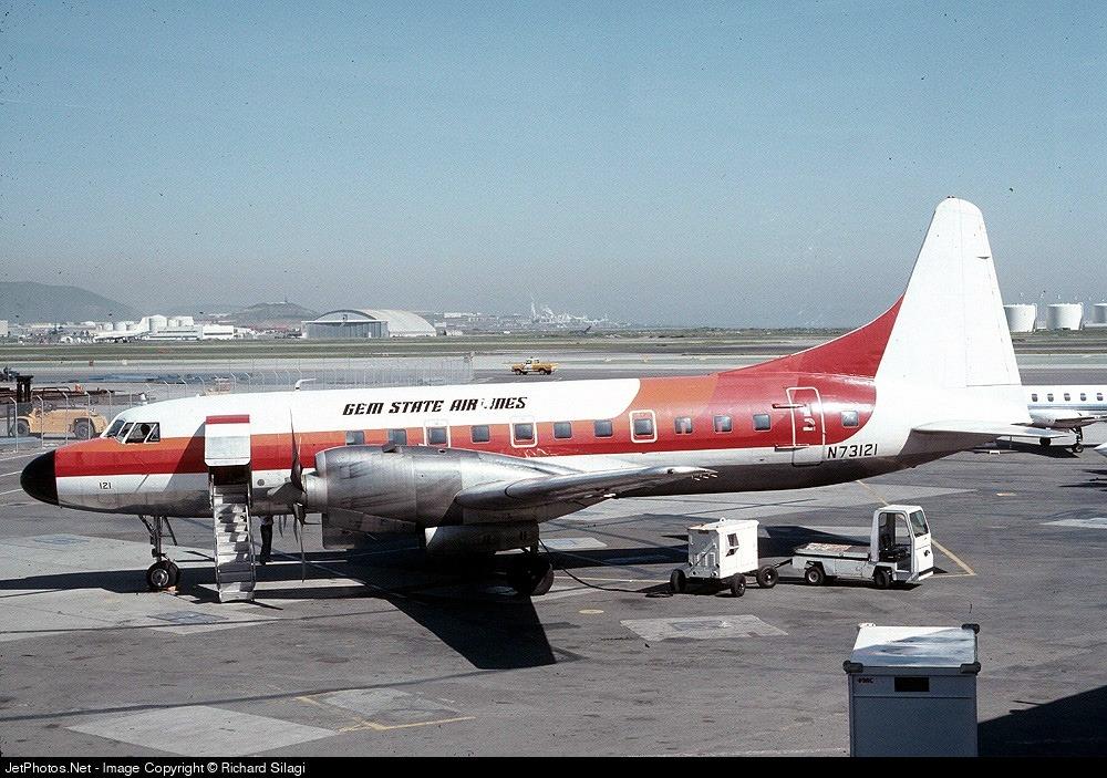 N73121 - Convair CV-580 - Gem State Airlines