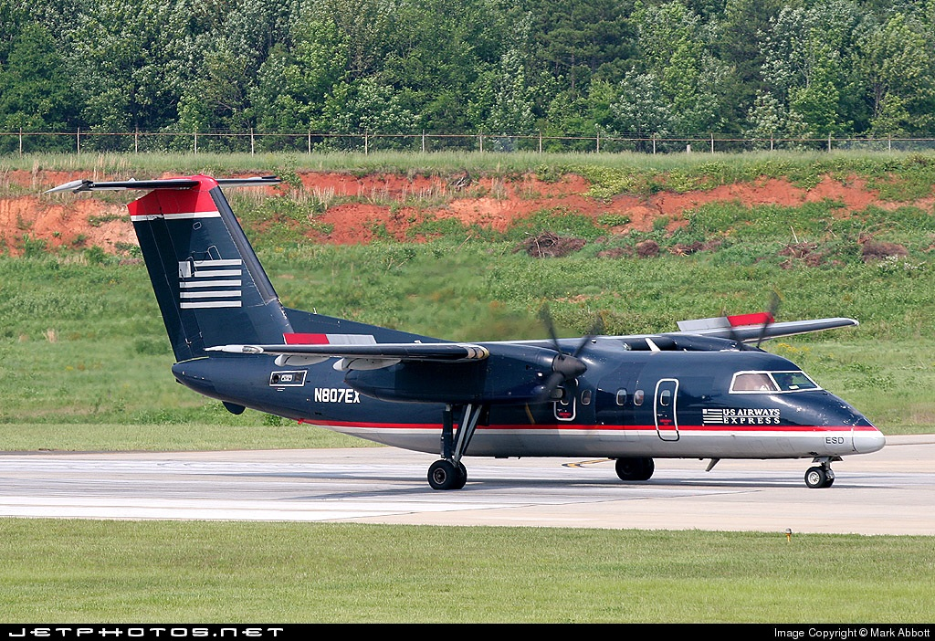 N807EX - Bombardier Dash 8-102A - US Airways Express (Piedmont Airlines)
