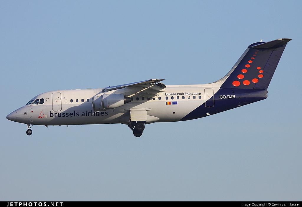 OO-DJR - British Aerospace Avro RJ85 - Brussels Airlines