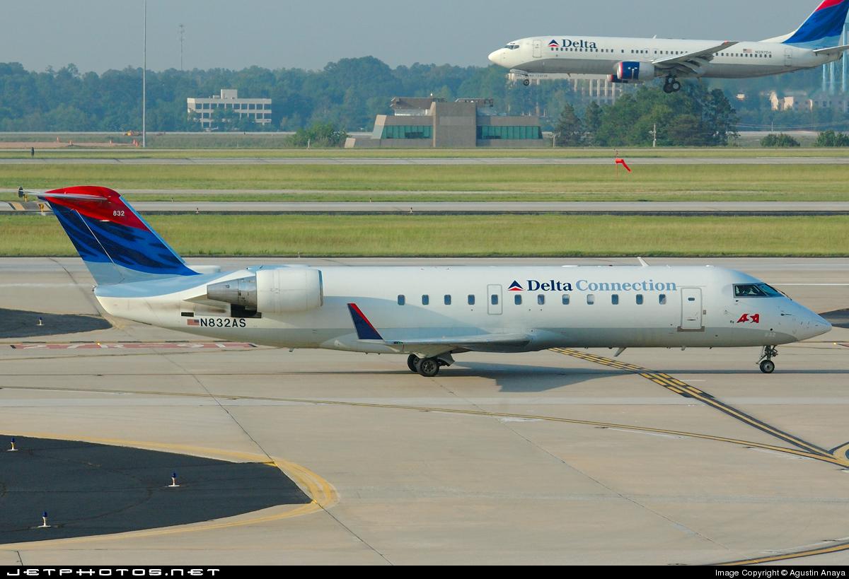 N832AS - Bombardier CRJ-200ER - Delta Connection (Atlantic Southeast Airlines)